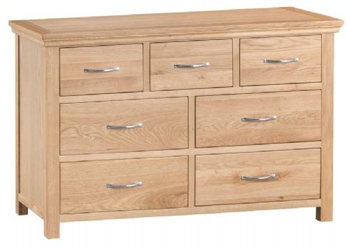 Lymington Natural Oak 3 over 4 Chest